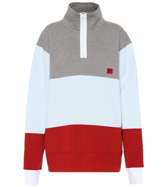 Acne Studios Flint Flag Face cotton sweatshirt