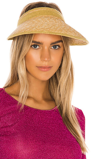 Oseree Ibiza Hat in Metallic Gold,Brown