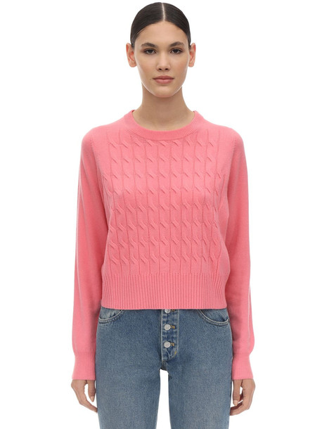 SPORTMAX Rana Cashmere Knit Sweater in pink