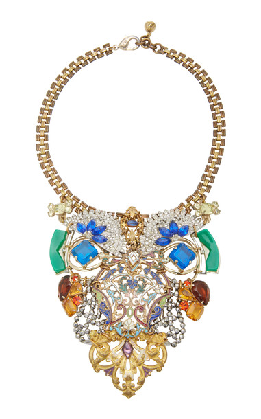 Lulu Frost One-of-a-Kind Gold-Plated Crystal Necklace