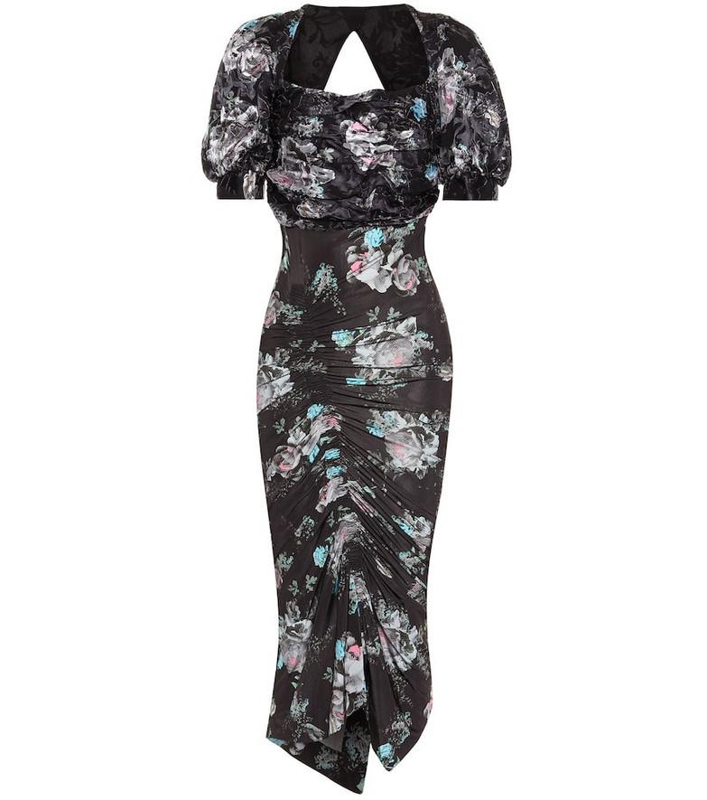 Preen by Thornton Bregazzi Gizzy floral midi dress in black