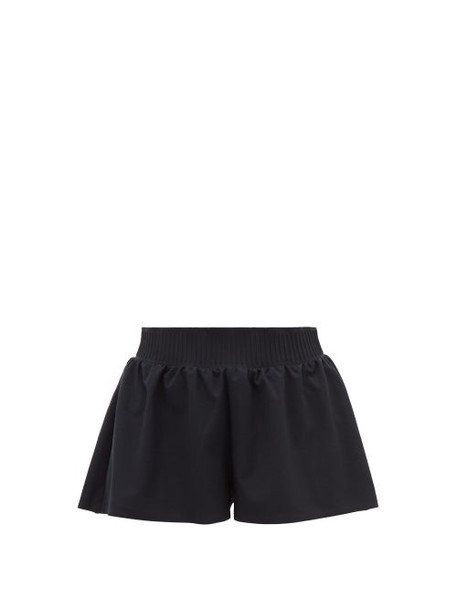 Vaara - Stella Stretch-crepe Shorts - Womens - Black