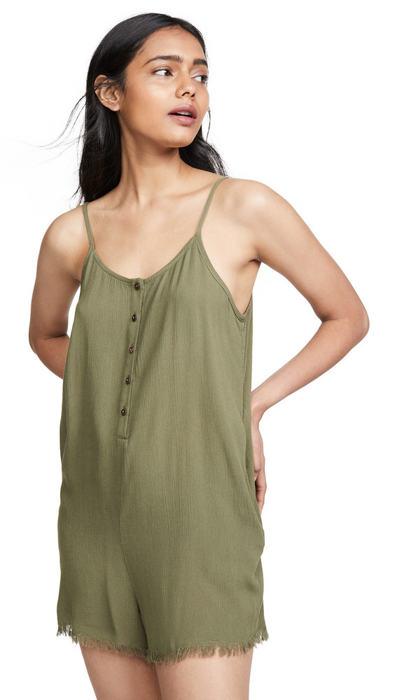 Knot Sisters Cora Romper in green