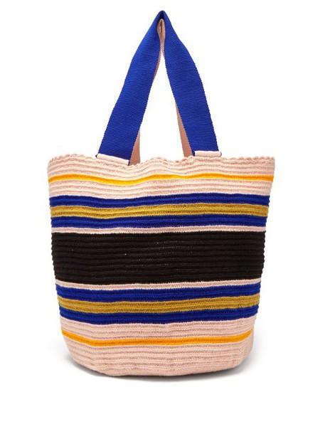 Sophie Anderson - Woven Crochet Tote Bag - Womens - Blue Multi
