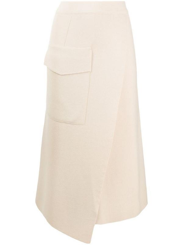 MRZ wool-knit wrap skirt in neutrals