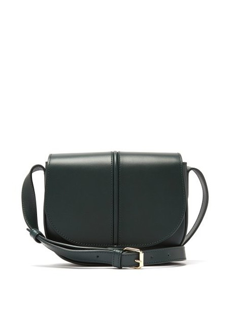 A.P.C. A.p.c. - Betty Leather Satchel Bag - Womens - Dark Green