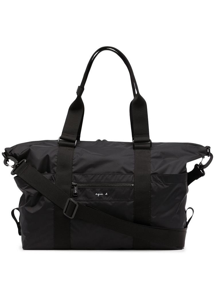 agnès b. agnès b. logo-print holdall bag - Black