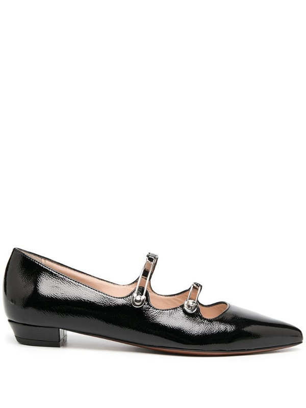 Alexa Chung pin-buckle point toe ballerina flats in black