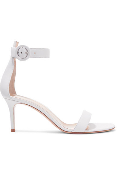 Gianvito Rossi - Portofino 70 Leather Sandals - White