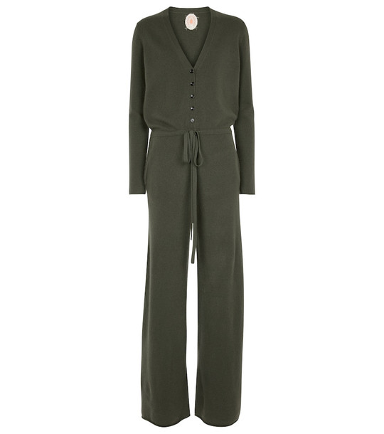 Jardin des Orangers Wool and cashmere jumpsuit in green
