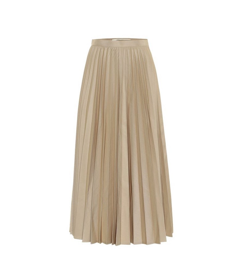 Junya Watanabe High-rise cotton-blend skirt in beige