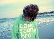 sweater,cool story bro,mint,scuba blue,hoodie,pullover,jersey,sweatshirt,turquoise