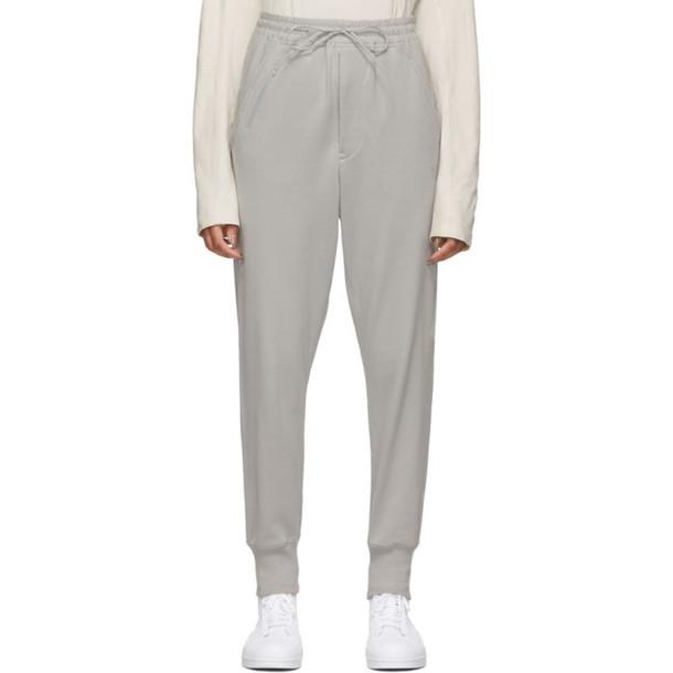 Y-3 Grey Classic Cuffed Lounge Pants