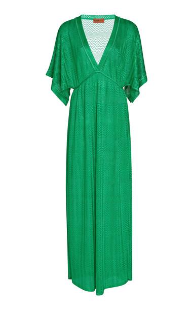 Missoni Mare Crochet-Knit Maxi Dress in green