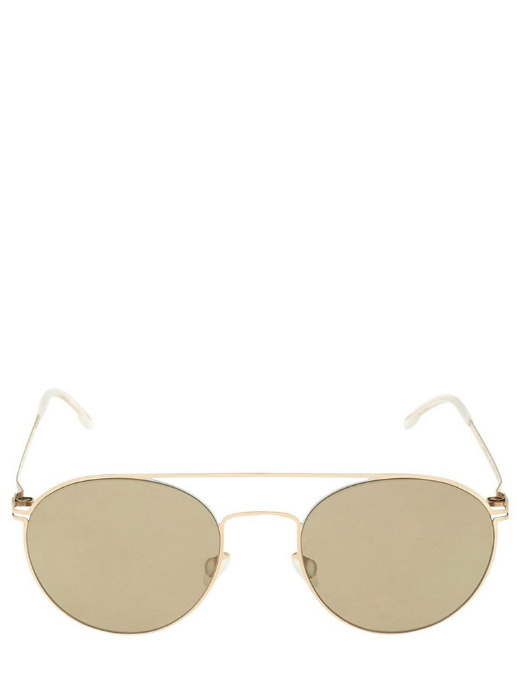 MYKITA Minttu Round Metal Sunglasses in brown / gold