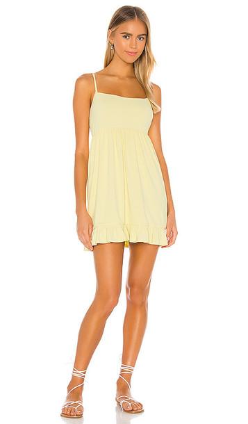 Privacy Please Davis Mini Dress in Yellow