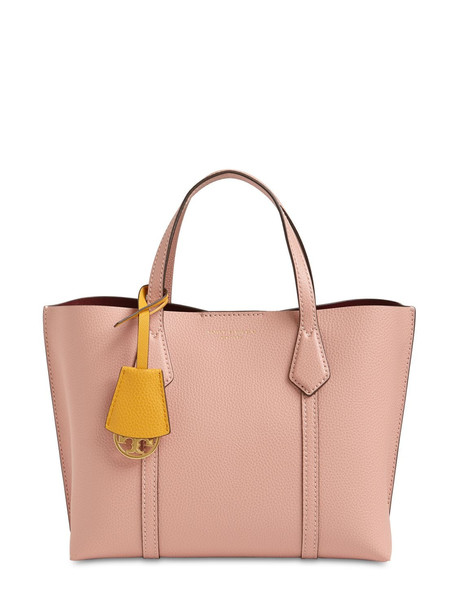 TORY BURCH Small Perry Leather Tote Bag in pink