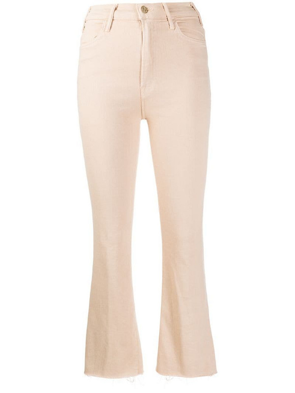 Mother kick flare trousers in neutrals