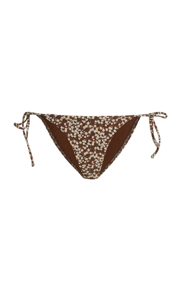 Matteau Printed String Bikini Bottoms in print