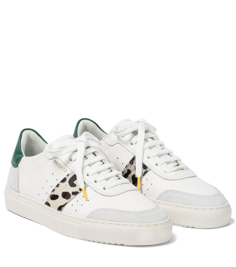 Axel Arigato Clean 90 calf hair and leather sneakers in white