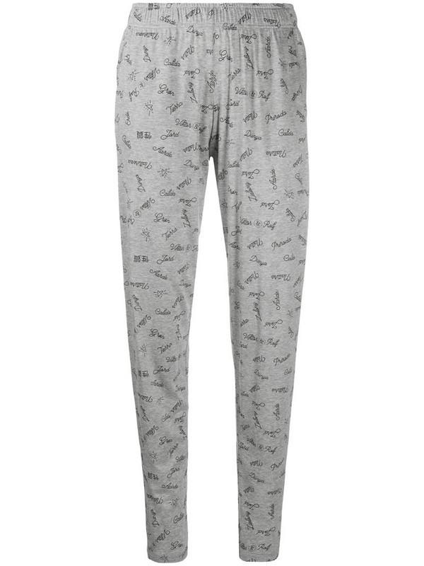 Viktor & Rolf x Calida slogan-print pyjama trousers in grey