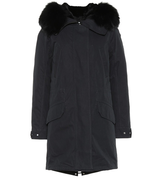 Yves Salomon - Army Fur-trimmed parka in black