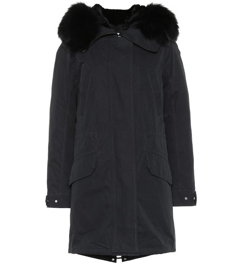 Yves Salomon - Army Fur-trimmed parka in black