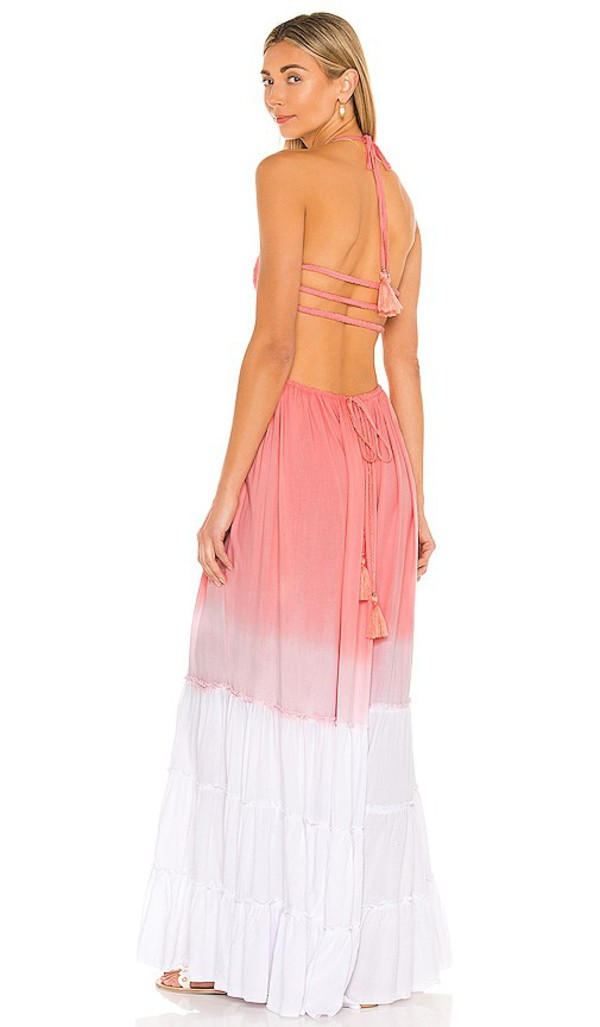 Tiare Hawaii Naia Dress in Pink in rose / white