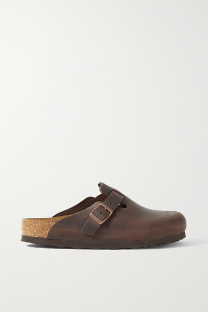 Birkenstock - Boston Leather Slippers - Chocolate