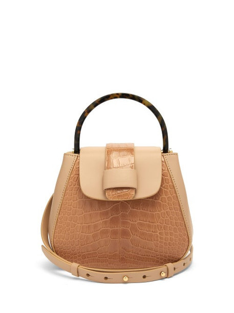 Nico Giani - Myria Mini Crocodile Effect Leather Cross Body Bag - Womens - Beige
