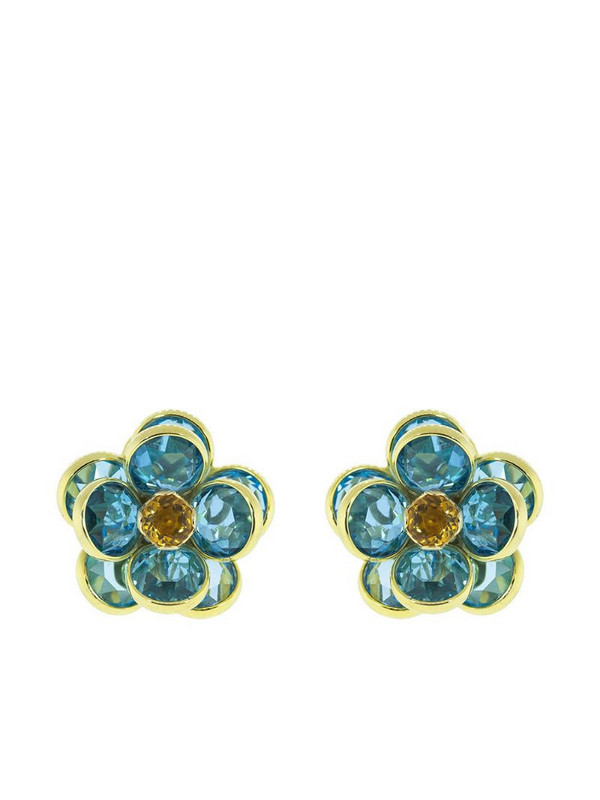 GUITA M 18kt yellow gold floral stud earrings