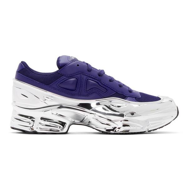 Raf Simons Navy & Silver adidas Originals Edition Ozweego Sneakers