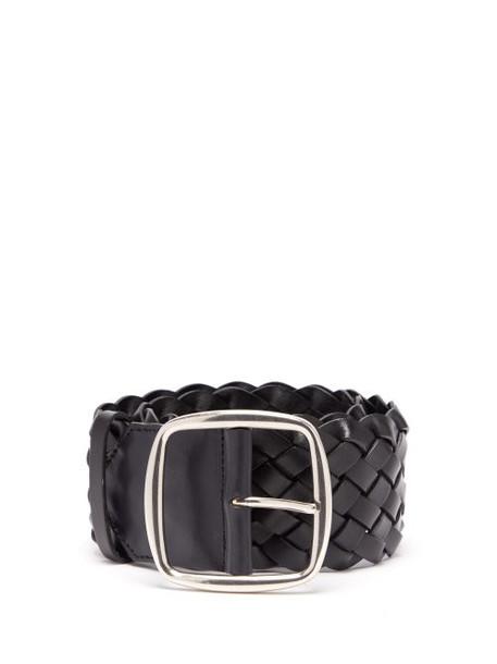 Etro - Braided Leather Belt - Womens - Black