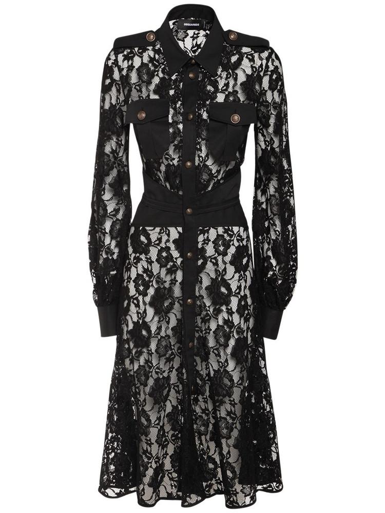 DSQUARED2 Lace Midi Dress in black