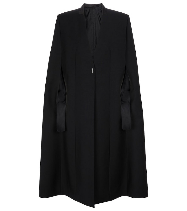 Givenchy Wool and mohair cape in black