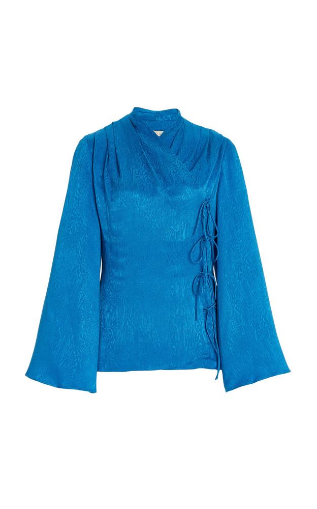 USISI SISTER Roya Moiré Evening Jacket in blue