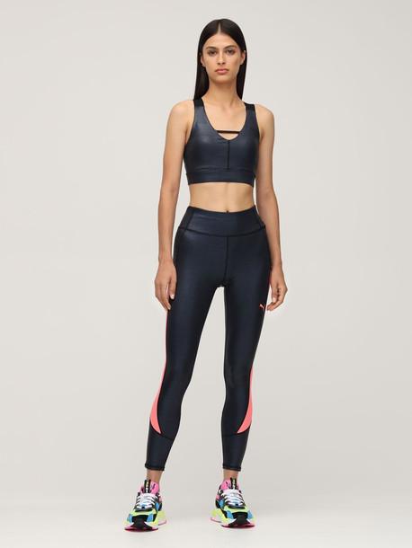 PUMA SELECT Lurex Sport Bra in black / blue