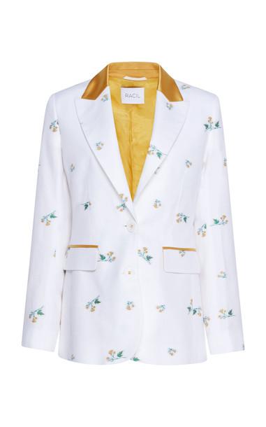 Racil George Floral Jacquard Blazer Size: 40