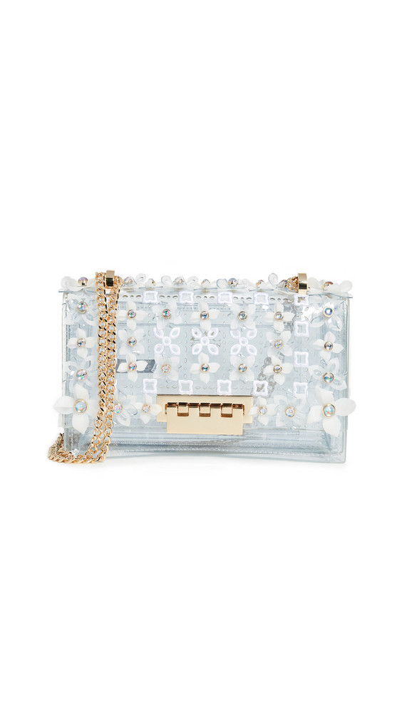 ZAC Zac Posen Earthette Chain Shoulder Bag in clear