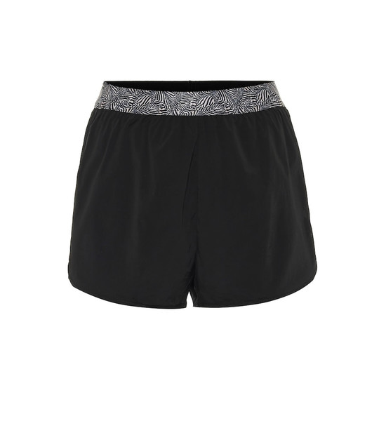 The Upside Run Zebra-print shorts in black