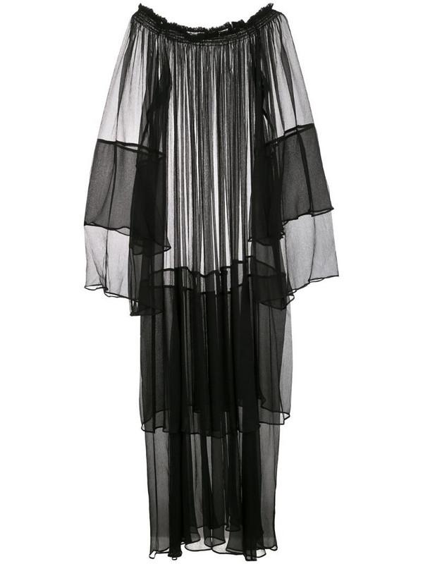 VOZ Cascade dress in black
