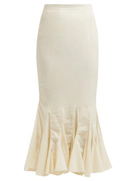 skirt midi skirt midi cotton cream