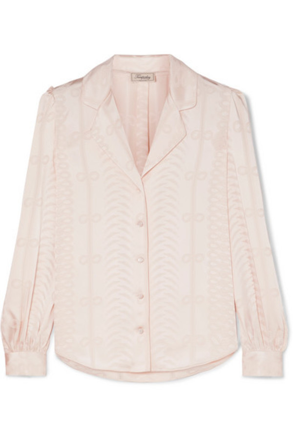 a72e201ea83d85 Temperley London 'Atlas' pussy bow blouse, Women's, Size: 12, Grey, Silk