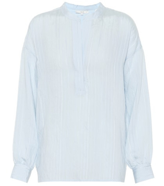 Vince Drapey Stripe blouse in blue