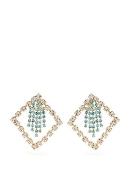 Rosantica By Michela Panero - Divinita Crystal Embellished Earrings - Womens - Green