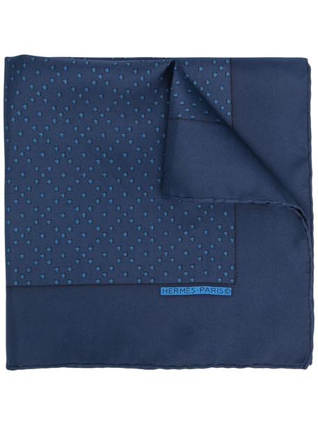 Hermès pre-owned pixel print scarf in blue