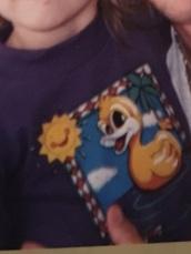 shirt,duck,purple,sun,smiley,palm tree,t-shirt,old school,90's shirt,kids fashion,90s style