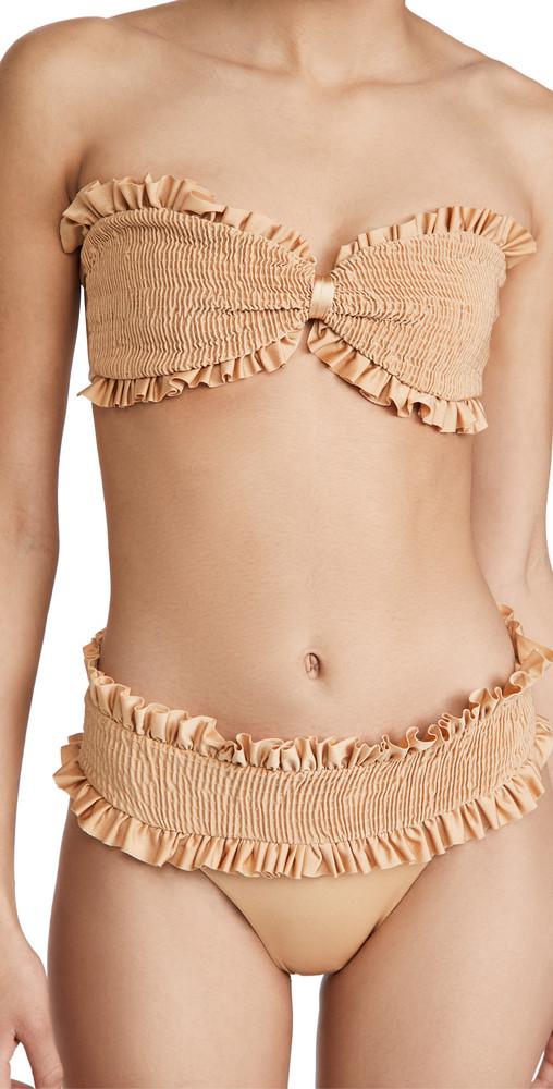 Azulu Cereza Bikini Top in gold