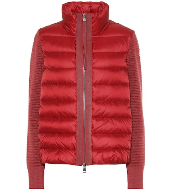 Moncler Wool and down jacket in red