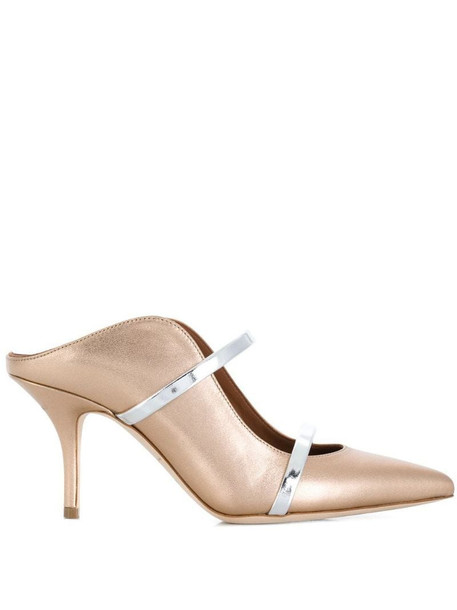 Malone Souliers Maureen pointed mules in gold